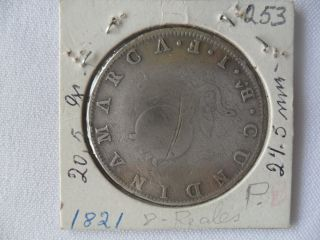 Colombia Coin 8 Reales 1821 Cundinamarca Ba.  J.  F.  V Vf Cat 253 photo