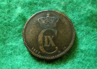 1881 Denmark 2 Ore - About Fine - photo