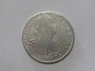 Early America 1797 Spanish Silver 8 Reales (fri) photo