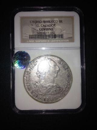 1783 Cazador Shipwreck Silver Coin photo
