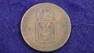 Austria 1816 A 1 Kreuzer Antique Austrian Coin Copper Circulated photo