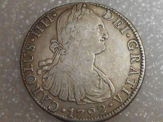 Mexico 1792 Mo F.  M.  8 Reales photo