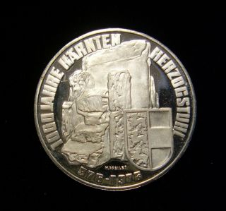 Austria 1976 100 Schilling Coin Silver Proof 1000th Anniversary Carinthia photo