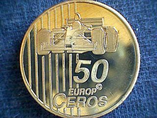 Switzerland 2003 50 Ceros Fantasy Euro Pattern,  Race Car Watch Inner Workings Bu photo