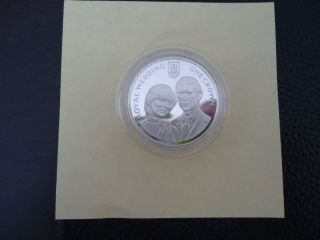 Gibraltar 1981 Royal Wedding Of Charles & Diana,  Silver Proof Coin photo