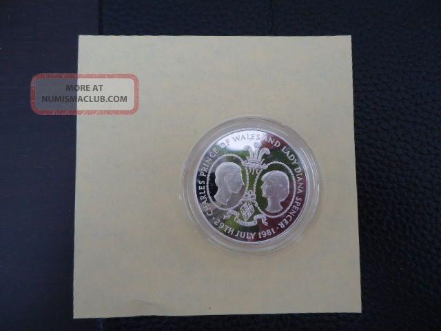 Tristan De Cunha: 1981 Royal Wedding Of Charles & Diana,  Silver Proof Coin Coins: World photo