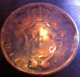 1865 Azores Portugal Luiz I - 20 Reis - Km15 - Big Bronze Coin photo