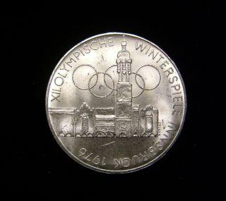 Austria 1975 100 Schilling Coin Silver Bu Innsbruck Olympics Xii photo