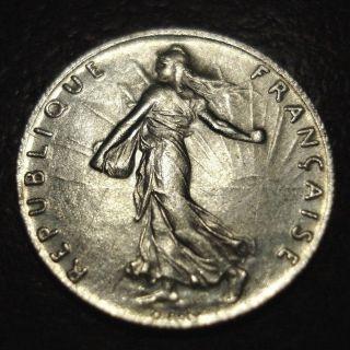 1917 France 1/2 Franc photo