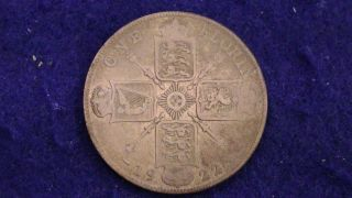 1922 England 1 Florin.  500 Silver Great Britain United Kingdom photo