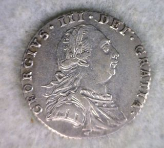 Great Britain 6 Pence 1787 Au British Silver Coin photo