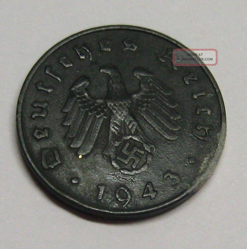 Rare 1943 - A German Third Reich - 10 Reichspfennig Km 101 Germany photo