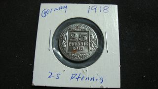 1918 Germany Coin - 25 Pfennig - Stadt Munster I/w.  Kriegsgeld photo