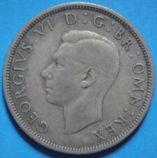 1940 Silver Half Crown Georgivs Vi D :g: Br: Omn: Rex Vf photo
