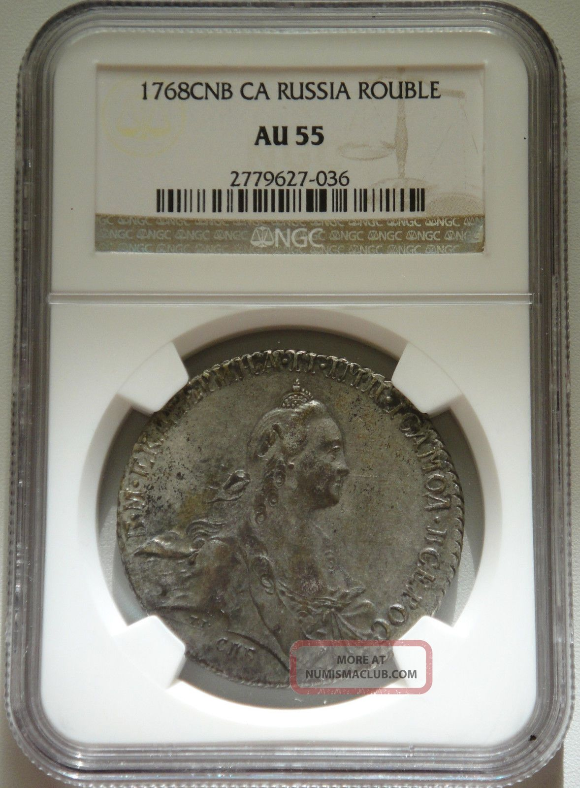 Russia Rouble 1768 Ca Russian Ruble Silver Coin Ngc Au