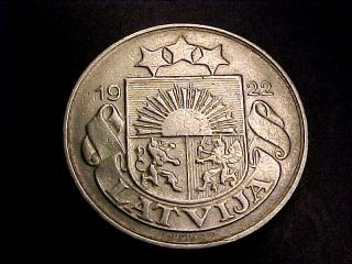 Rare 1922 Latvia 20 Santimu Xf Buy It Now photo