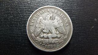 1888 Silver 25 Centavos Rarer Cn Culiacan Mexico - Republic photo