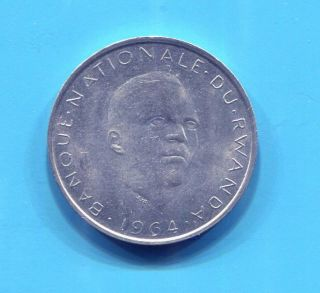 Rwanda - 1964 10 Francs photo
