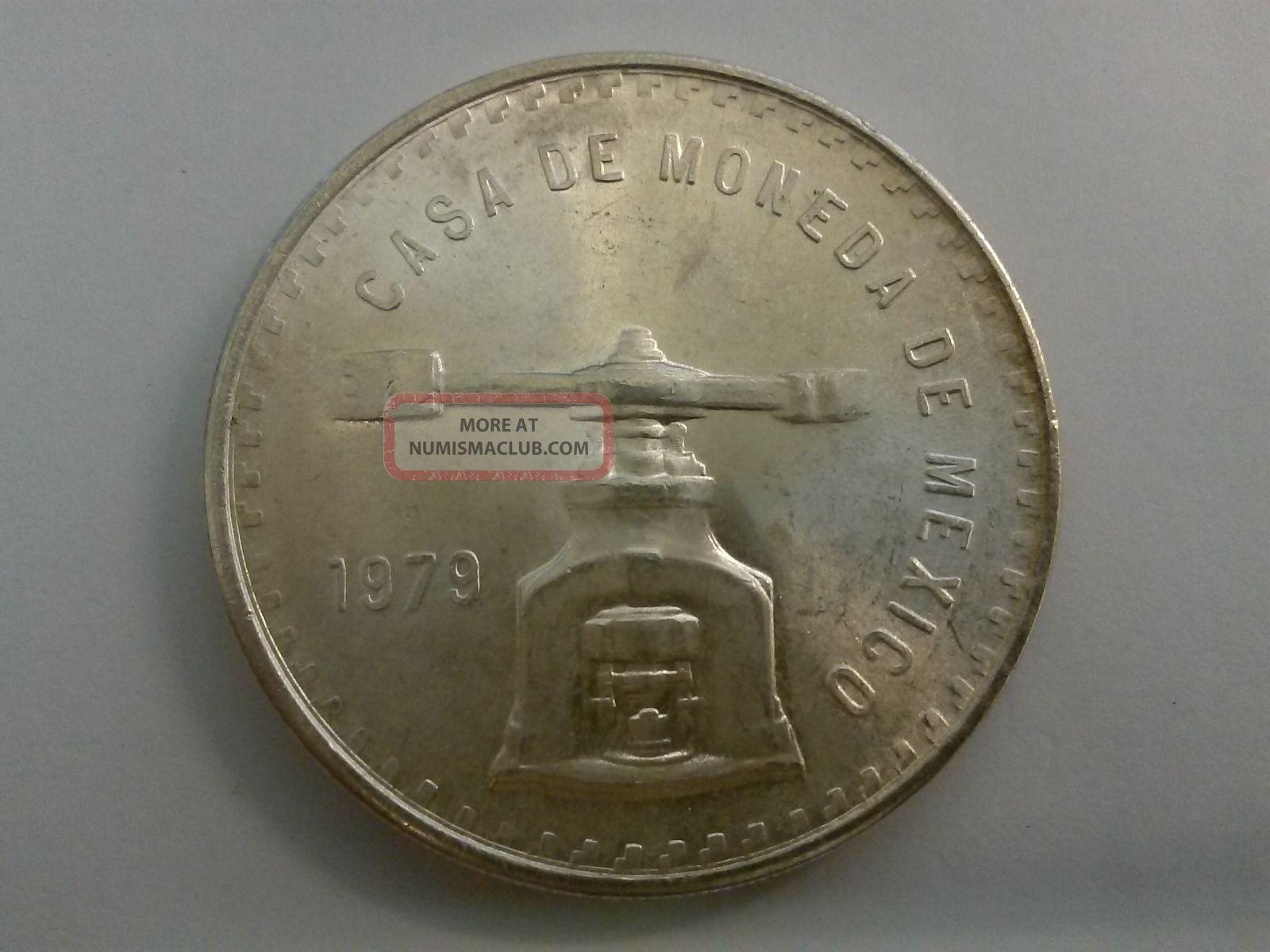 1979 Casa De Moneda De Mexico One Troy Ounce Sterling