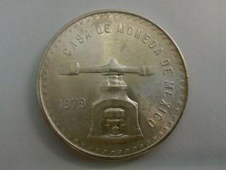 1979 Casa De Moneda De Mexico One Troy Ounce Sterling Silver Coin photo