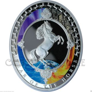 The Horse Lunar Series 1oz Silver Proof Coin With Feng Shui 5 Elements photo