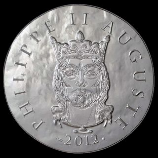France 2012 Philip Ii Auguste 10 Euro Silver Proof Clovis To Republic photo