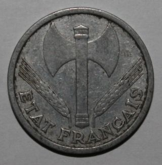 1 Franc Coin - 1942 - Vichy French State - Km 902 - France - World War Ii photo