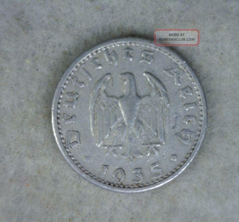 Germany 50 Pfennig 1935g Xf Coin Germany photo