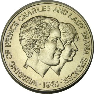Elf Uganda 10 Shillings 1981 Charles Diana Wedding photo
