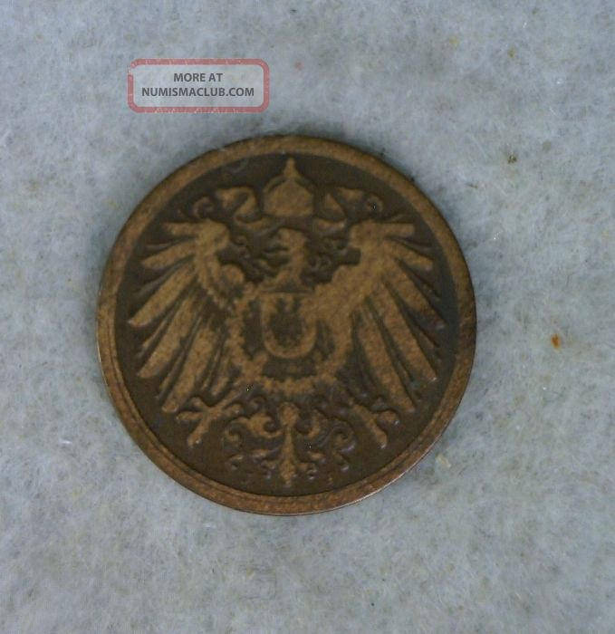 Germany Pfennig 1900j Vf Coin Germany photo
