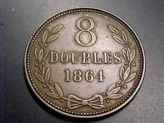 1864 Guernesey 8 Doubles Xf Bin Offer photo