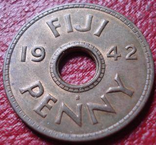 1942 - S Fiji Penny In Ef - Au photo