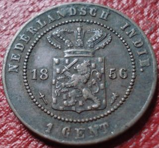 1856 Netherlands East Indies (indonesia) 1 Cent In Vf photo