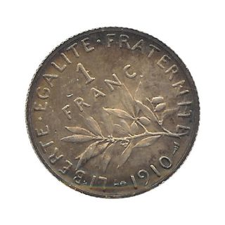France - Semeuse - Franc 1910 Au (sup) With Dark Patina - Default photo