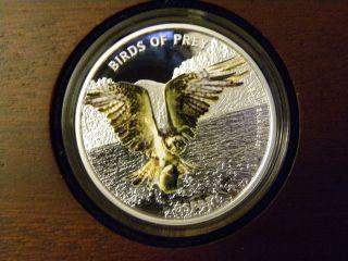 2013 Niue $2 Birds Of Prey Series - Osprey Proof,  1 Oz 0.  999 Ag,  Nz photo