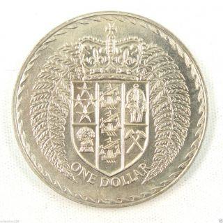 Zealand Dollar Coin,  1971,  Unc photo