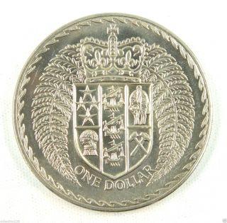Zealand Dollar Coin,  1972,  Unc photo