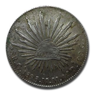 Mexico Chihuahua Ca 1895 M.  M.  8 Reales Cap And Rays Silver Coin (2039) photo