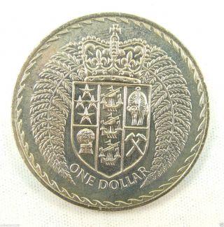 Zealand Dollar Coin,  1975,  Unc photo