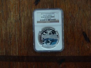 2011 - Rare Australian Killer Whale Aat Proof - Ngc - 69 Ultra Cameo Graded photo