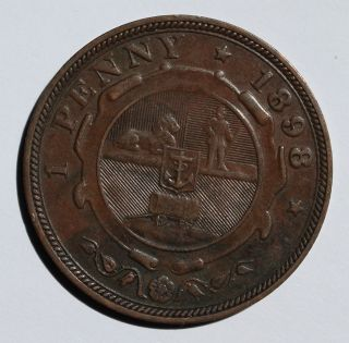 South Africa 1 Penny,  1898 photo
