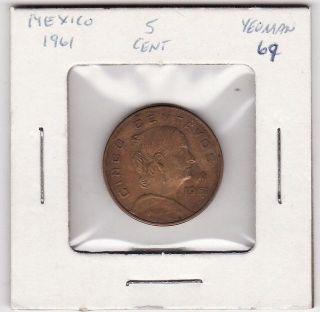 Mexico 5 Centavos World Coin 1961 103 photo