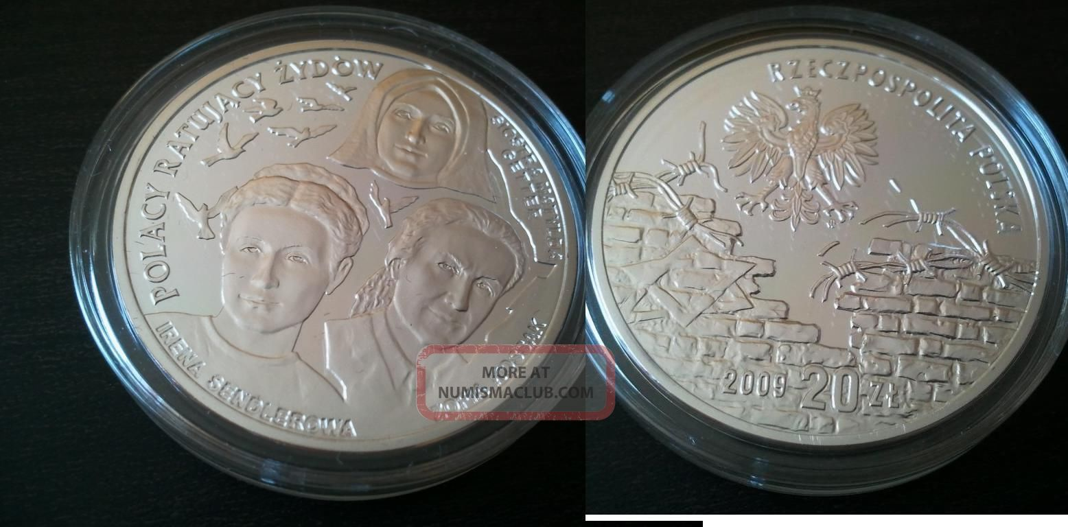Silver Coin Ag 925 - Poles Who Saved Jews 2009 20 Poland Zlotys - Irena Sendler Europe photo