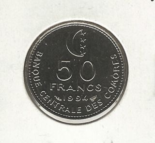 Comoros 50 Francs,  1994 photo
