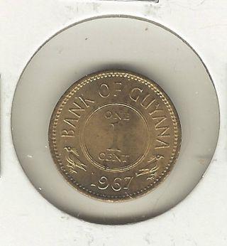 Guyana Cent,  1967 photo