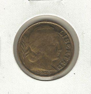 Argentina 20 Centavos,  1949 photo
