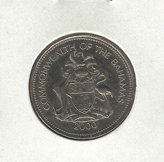 Bahamas 25 Cents,  2000 photo