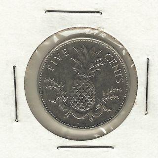 Bahamas 5 Cents,  2000 photo