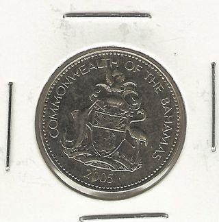 Bahamas 5 Cents,  2005 photo