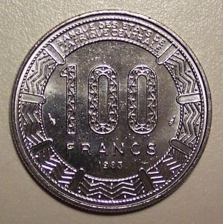 1983 Central African Republic 100 Francs photo